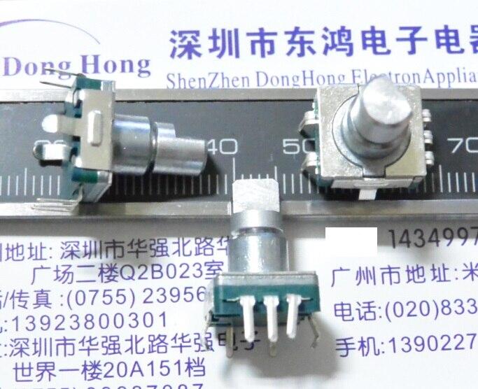 Codeur de type EC11 avec interrupteur 30   Poignée numérique de positionnement longue 12mm, potentiomètre de volume pour voiture DV