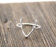 Jisensp 2018 nouveaux bijoux de mode anneaux mignon Animal cerf bois anneaux pour les femmes cerf Animal anneau saint-valentin et cadeaux de noël