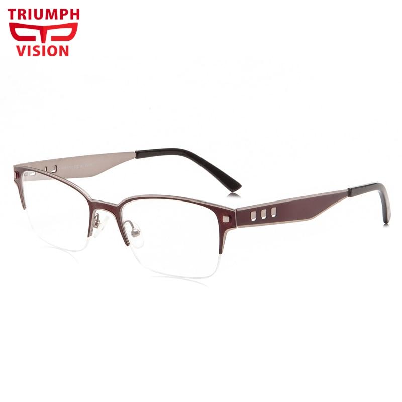 TRIUMPH VISION Brand Myopia Glasses Men High Quality Metal Frame Prescription Glasses Photochromic P