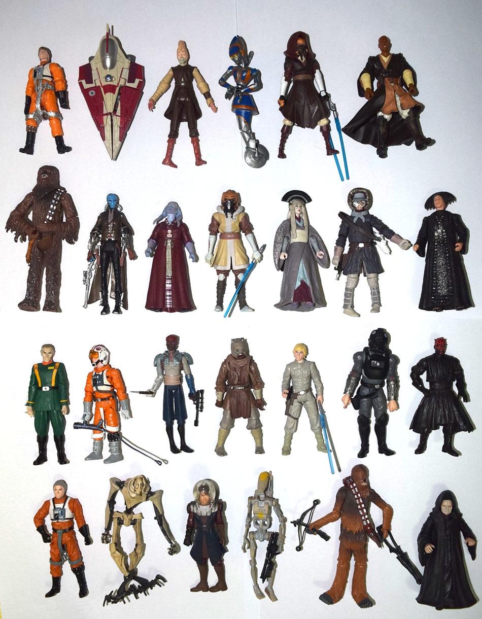 """Lote de 10 figuras sueltas de acción de Star Wars Sith Jedi Trooper C-3PO Obiwan 3,75"""""""
