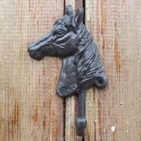 cast iron wall mounted horse head decorative wall hook