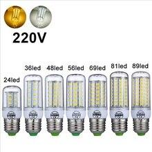 Livraison Gratuite 360 Angle E27 lampe à LED 220 V 240 V lumière LED Dampoule De Maïs SMD5730 Lampada ampoule LED LED s Maison Décorer Lustre Lumière