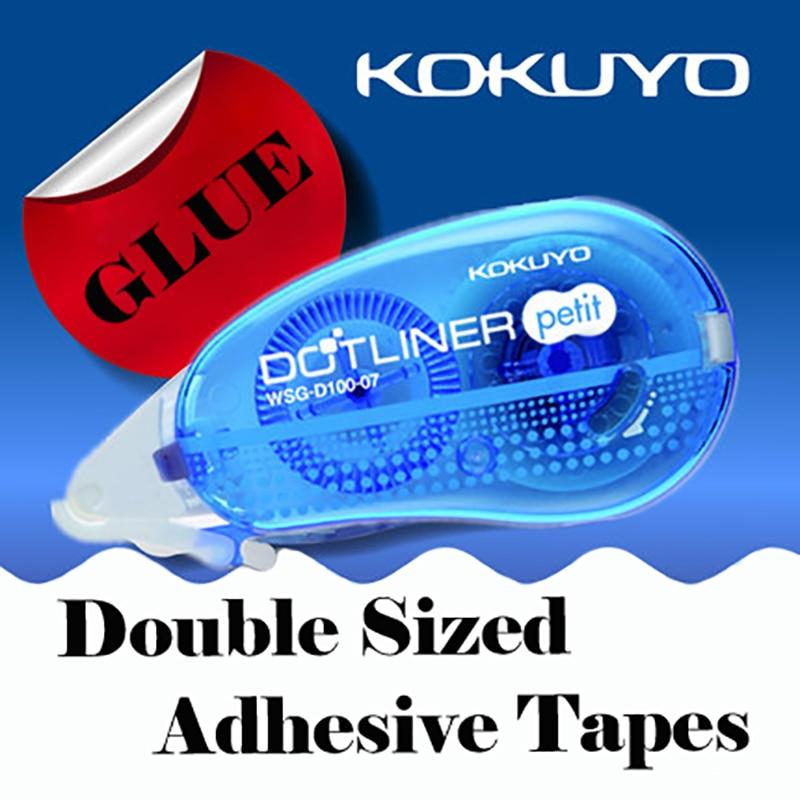 Tunacoco kokuyo d100 3 pçs cola pegajosa seca rápida dupla face fita adesiva punctiform cola adesiva artigos de papelaria qt1710075