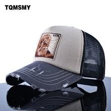 TQMSMY-casquette de Baseball pour hommes   casquette dété en maille, casquette brodée lion, casquette unisexe, Hip Hop os décontracté, Pokemon, casquettes de soleil pour femmes