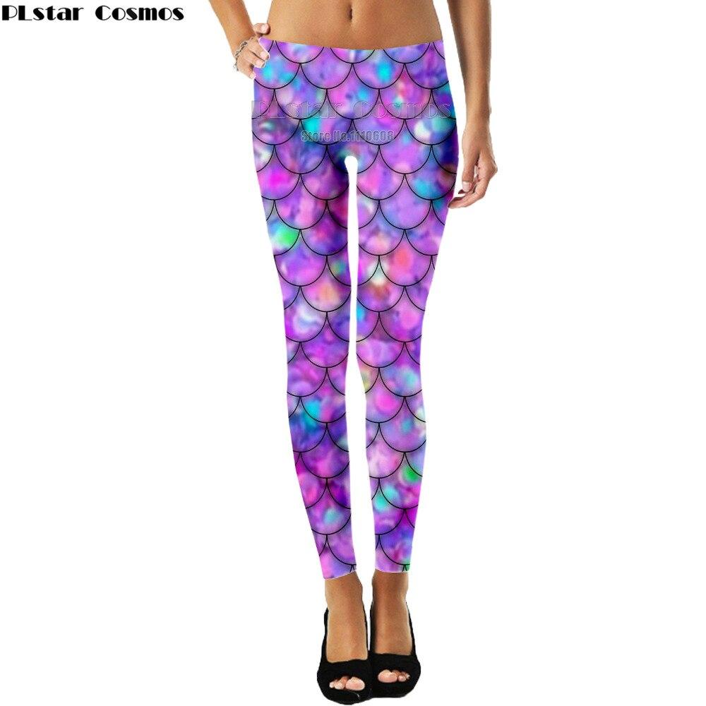 Mallas sexis a escala de pescado para mujer con ventas en caliente de PLstar 21 colores Punk Cosply Mermaid Fitness Leggins pantalones elásticos de longitud completa