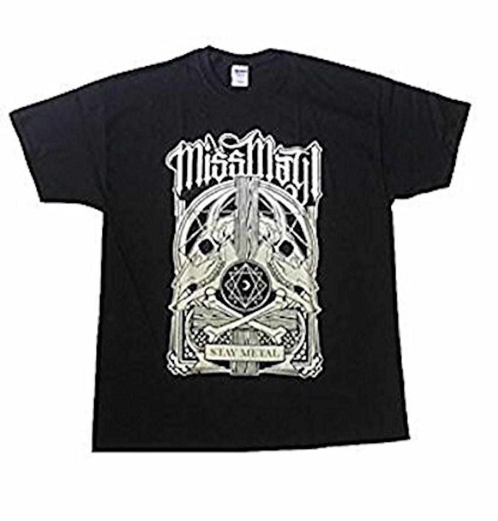 Miss May I - Goat Skulls - Official Mens T Shirt Tops Summer Cool Funny T-Shirt Round Neck Men Top Tee