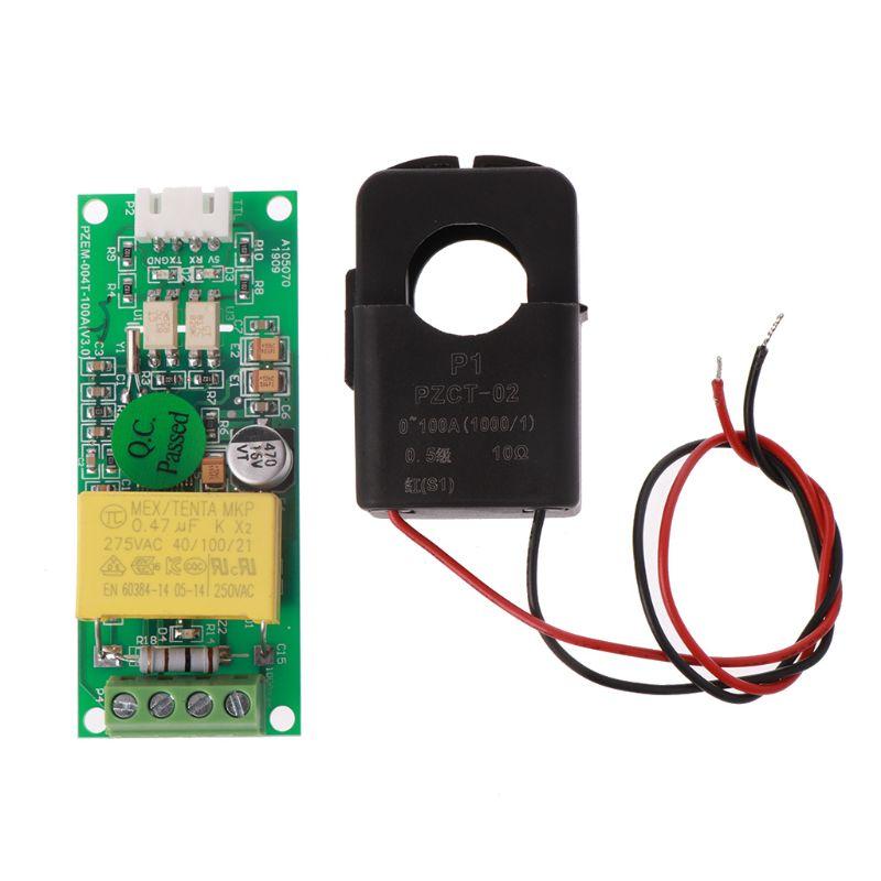 PZEM-004T voltaje actual multímetro para 80-260 V 100A + Split-núcleo transformador