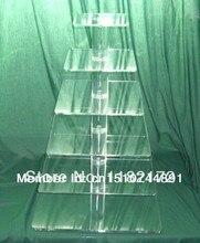 """Exquisite akrylowym ciasto wieża/""""6 Tier placu układ piękny akrylowy stojak na babeczki Party/ślub/materiały festiwalowe"""