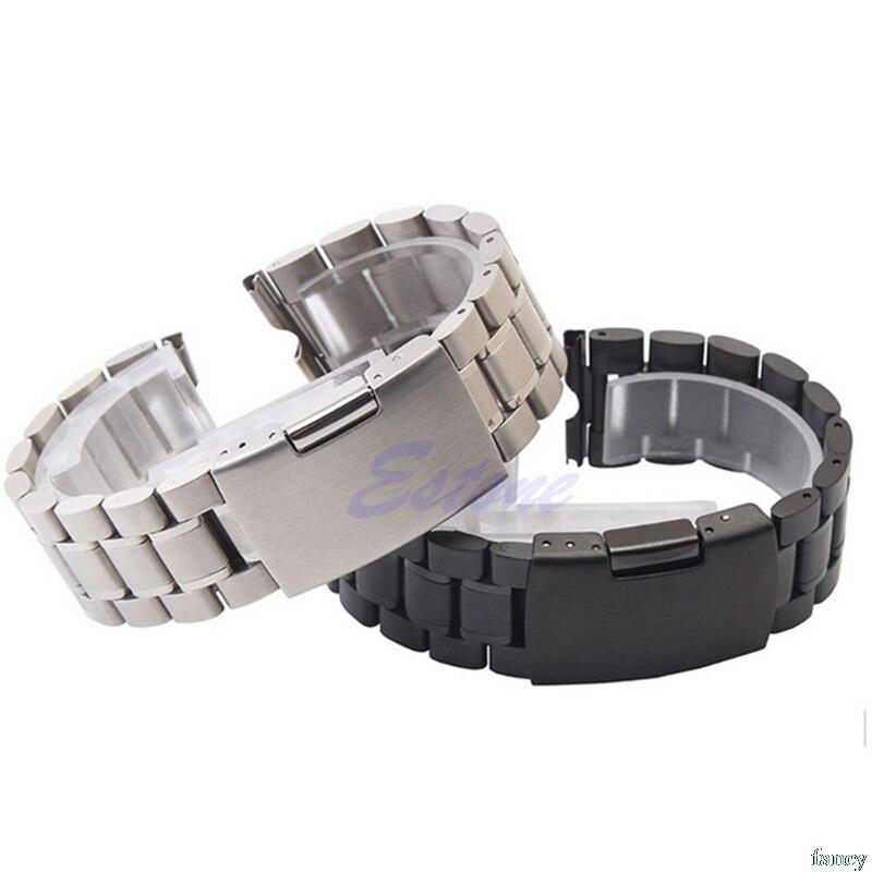Premium pulseiras de relógio 22mm pulseira de relógio aço inoxidável para moto motorola 360 relógio inteligente + ferramentas