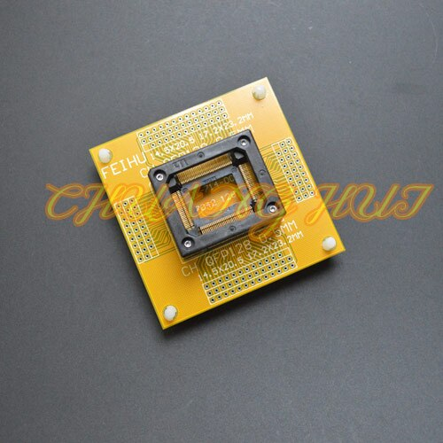 IC TEST QFP128 test socket TQFP128 LQFP128 QFP128 With PCB board ic socket Pitch=0.5mm Size=14.5x20.5mm 17.2x23.2mm