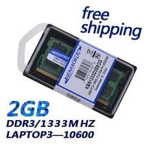KEMBONA vente chaude!! Mémoire DDR3 Ram 1333 Mhz 2 GB pour ordinateur portable Sodimm Memoria Compatible 1066 Mhz livraison gratuite