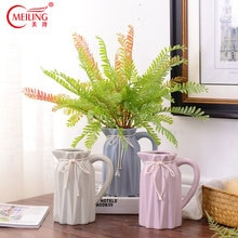 Vase à Origami en céramique avec poignée   Pour center de table, fait à la main, remplissage de Vase de fleurs, décoration de la maison moderne, Vase en poterie, peut contenir de leau
