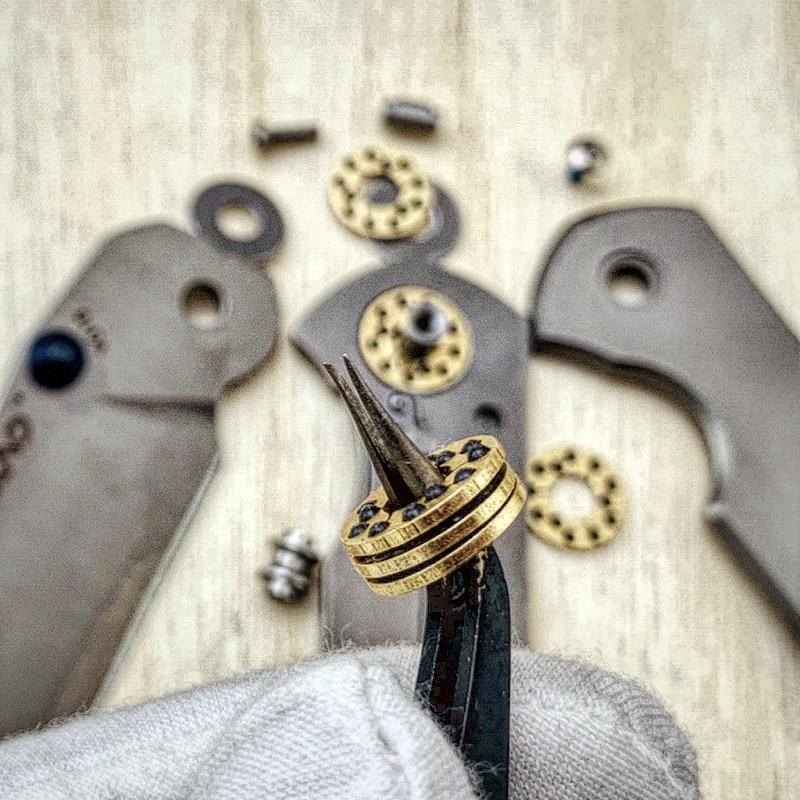 Flipper 812 cuchillo cojinete arandela de latón rodamientos de cerámica bola 2 piezas