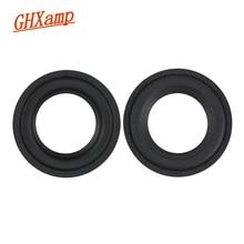 Ghxamp 3 pouces Woofer haut-parleur mousse réparation Surround Suspension haut-parleur accessoires éponge anneau cercle pour aller jouer bricolage 2 pièces