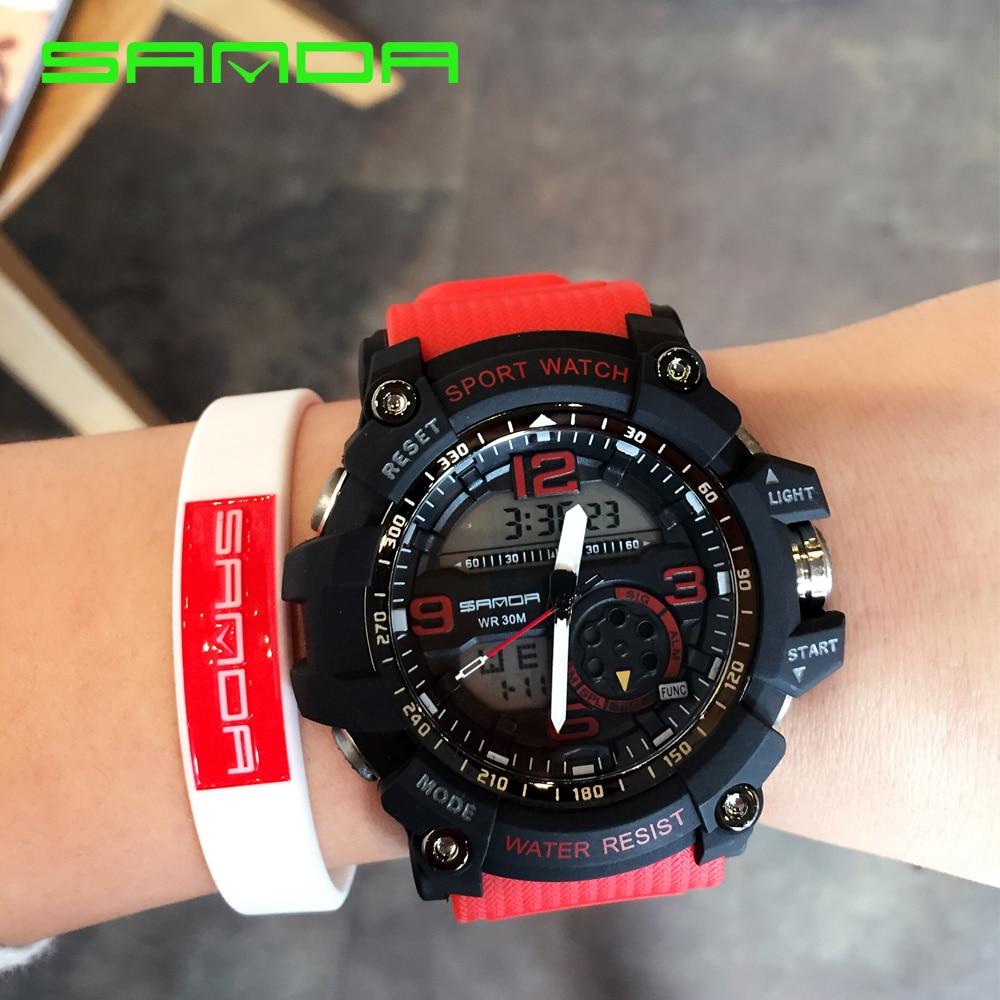נשים גברים שעוני יד אנלוגי דיגיטלי צבא LED אלקטרוני צלילה G S-שעונים ספורט הלם Masculino Relogio גברים נשים Feminino חדש