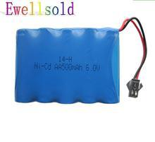 6 v batterie 500 mah nicd ni-cd aa batteries batterie pack 6 v batterie pour jouet voiture RC bateau jouets 2 pcs/lot livraison gratuite