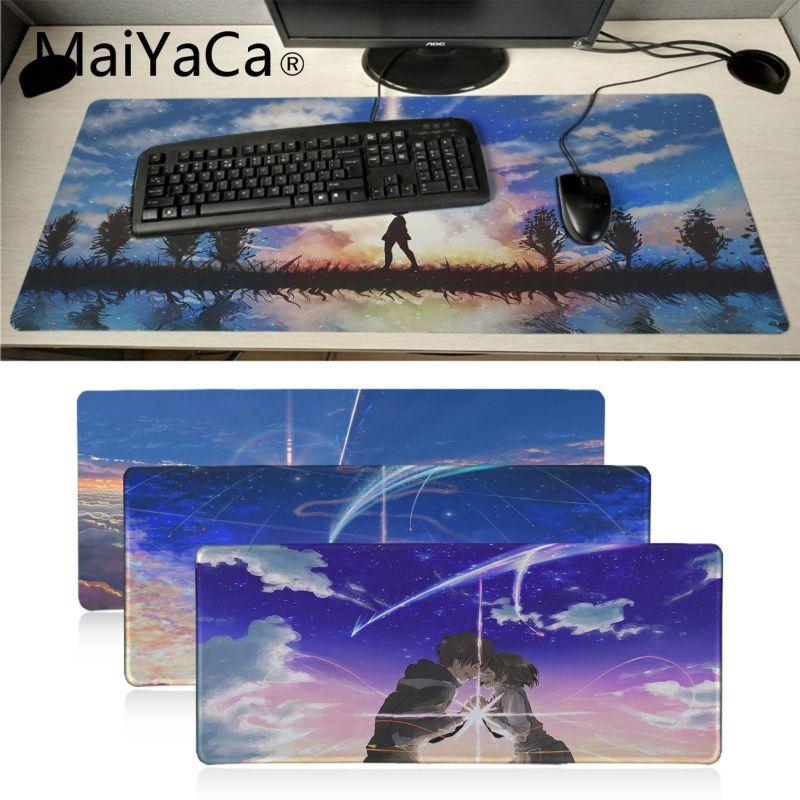 MaiYaCa mi Anime favorito tu nombre Kimi No Na Wa ordenador portátil Mousepad Gamer teclado Mat computadora tableta mouse pad