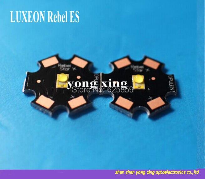 5 pcs LUXEON Rebel ES 3 w Branco Fresco 6000-6500 k warm white 3000-3500 k Alta o poder superior CONDUZIU