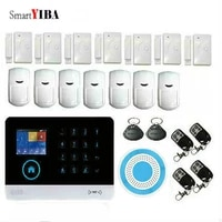 SmartYIBA     systeme dalarme de securite domestique sans fil  wi-fi  3G  WCDMA  voix russe  espagnole  francaise  allemande  anti-cambriolage