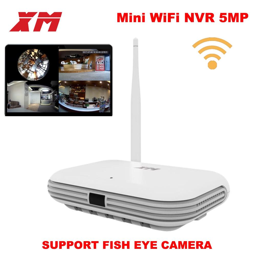 XM JPN1-W 5MP/4MP/3MP 360 درجة بانورامية VR 4CH الذكية واي فاي كاميرا صغيرة NVR دعم بروتوكول ONVIF P2P شبكة لاسلكية IP