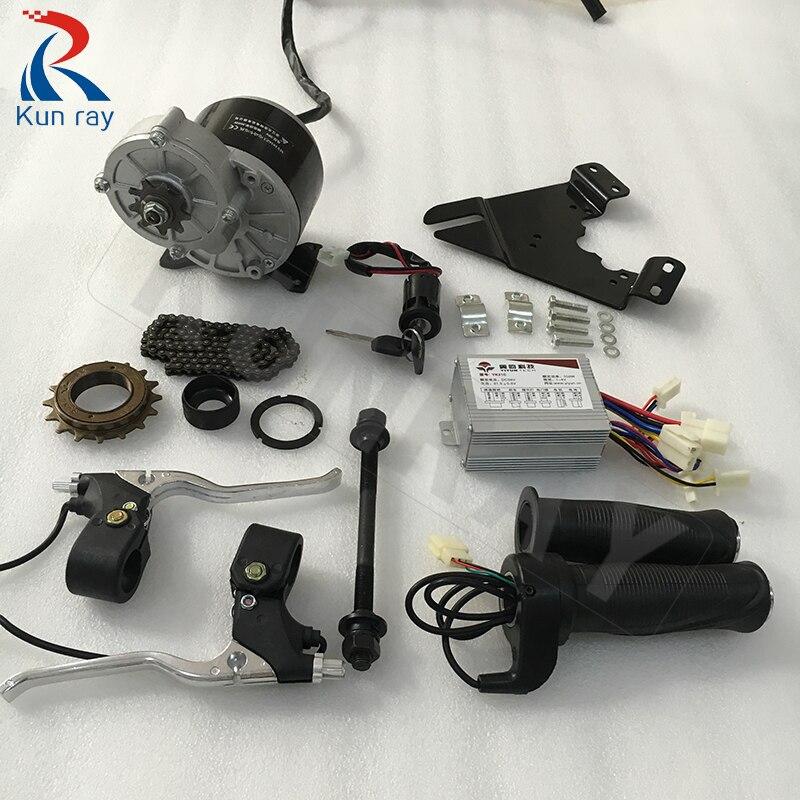 Kit de conversión de Bicicleta MY1016Z2 24V36V, 250W, controlador de Motor de...