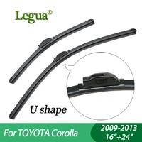 legua wiper blades for toyota corolla 2009 2013 1624car wiperboneless windscreen windshield wipers car accessory