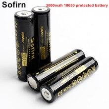 Sofirn batterie Rechargeable 18650 batterie li-ion 3.7 V 3000 mah 18650 piles rechargeables avec carte de circuit imprimé protégée