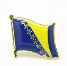National Flag Metal Lapel Pin Flag Pin bosnia