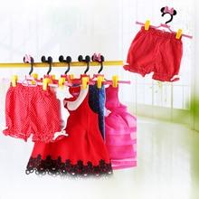 Cintre rétractable pour bébé   Cintre, dessin animé, porte-jupe rétractable, pour pantalons et vêtements adultes, 5 pièces/lot