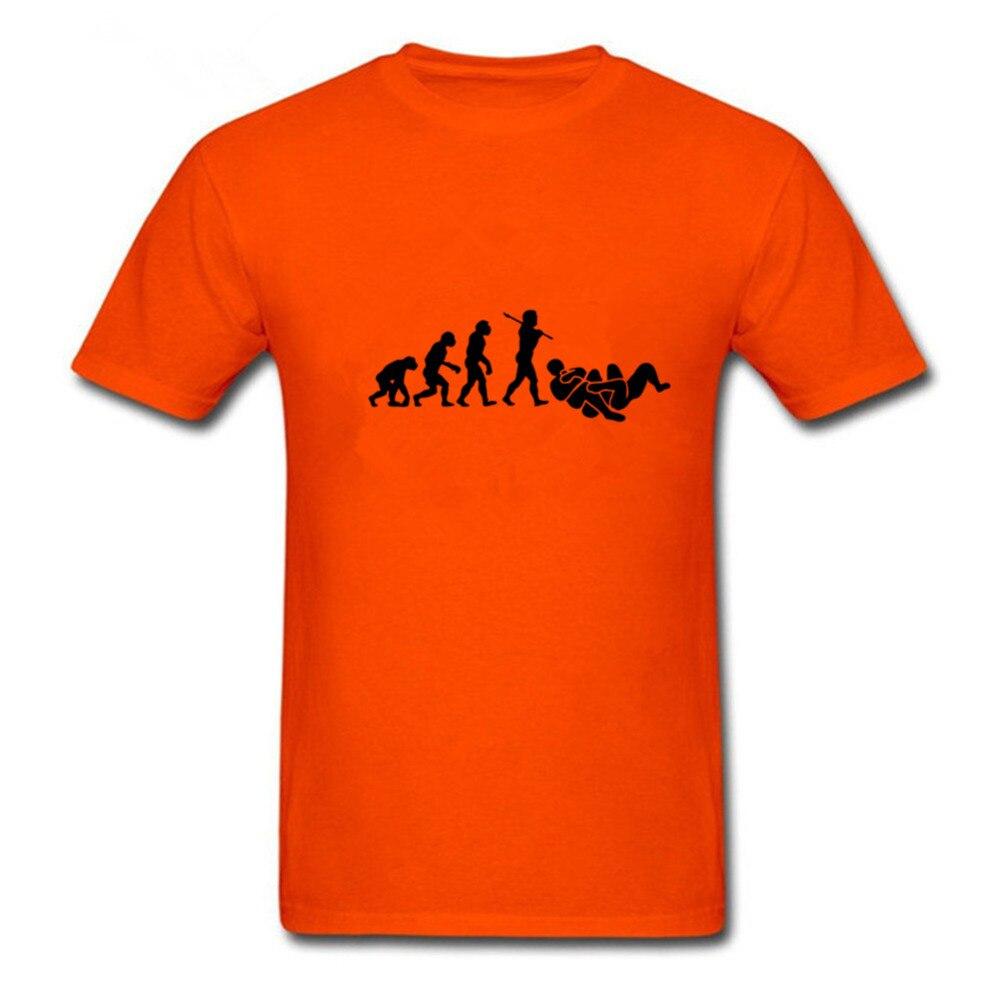 Fresco camiseta geek diseño brasileño jiu jitsu BJJ Evolution camiseta Camisas hombres o-cuello mens barato caliente Juventud manga de la camiseta