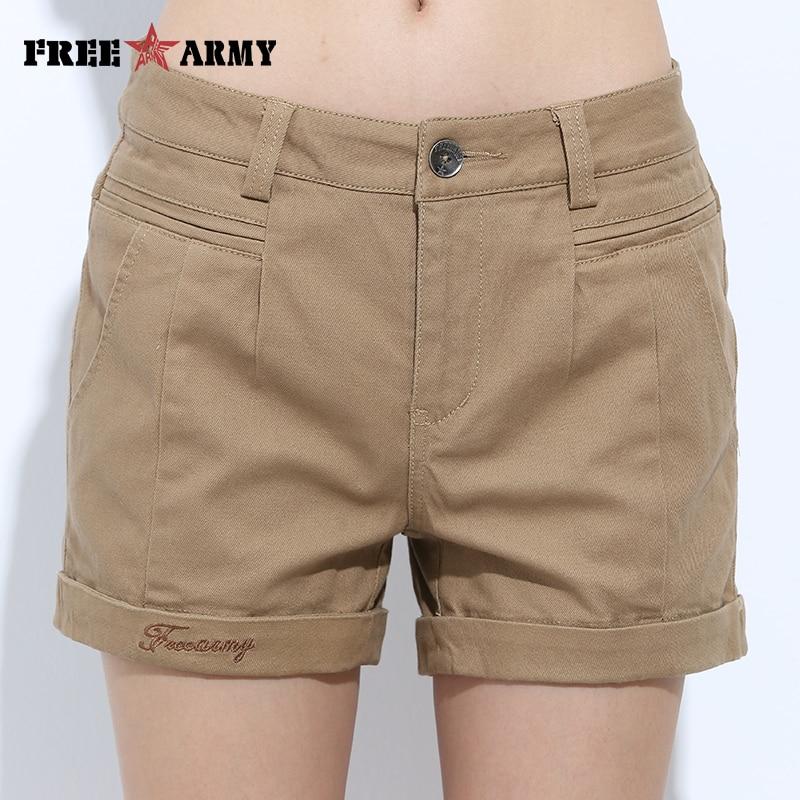 Womens Shorts Summer Fashion Casual Cotton 4 Solid Colors Short Pants Brand Clothing Black Sexy Hot Woman Shorts Dropshipping