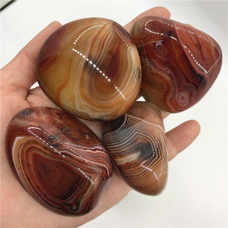 4 piedras preciosas naturales grandes de seda ágata Palma piedra Ágata pulida irregular cristal para Sanación reiki sardonyx piedras preciosas como regalo