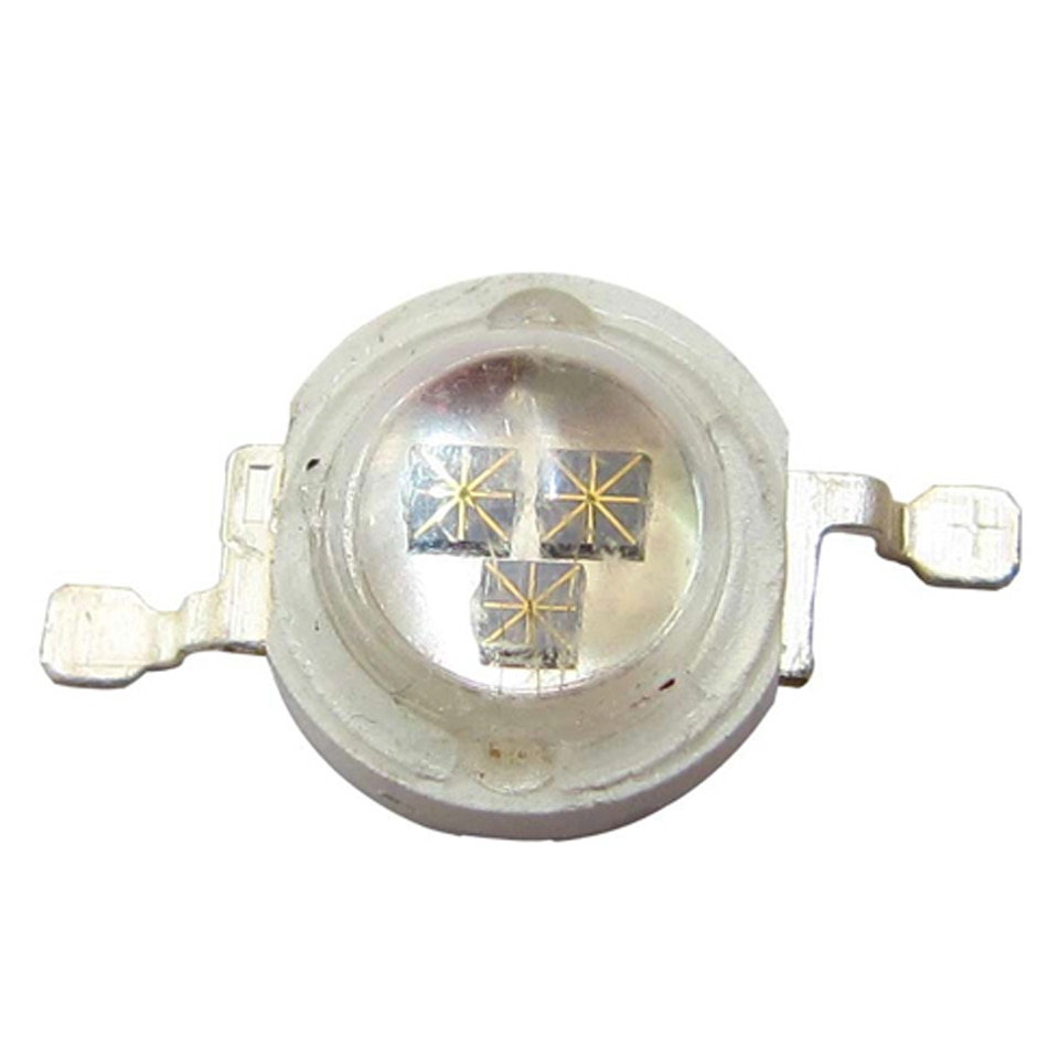 50 Uds 3W chip triple infrarrojo IR 940nm LED cuenta diodos parte de luz entrada CC 1,6 ~ 1,7 V 900mA