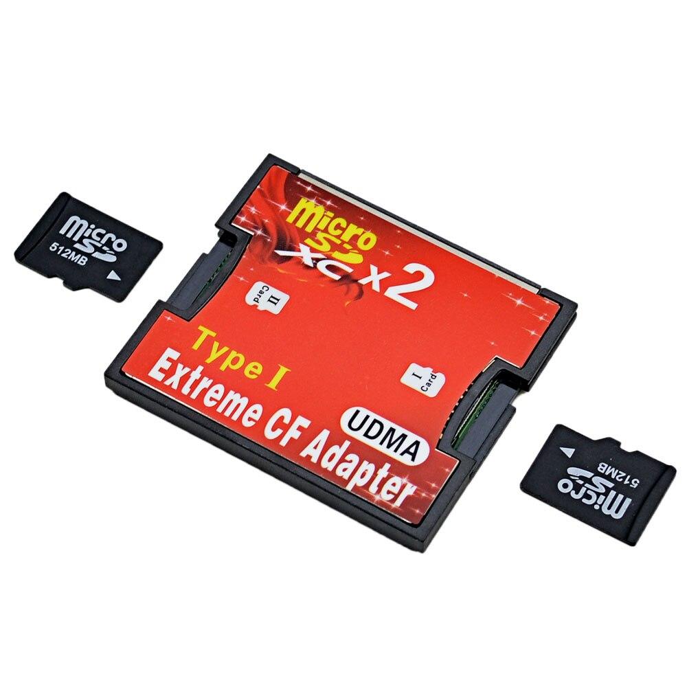 Chipal micro sd dupla, sdhc sdxc tf para cf adaptador microsd para flash extreme compacto tipo i leitor de cartões