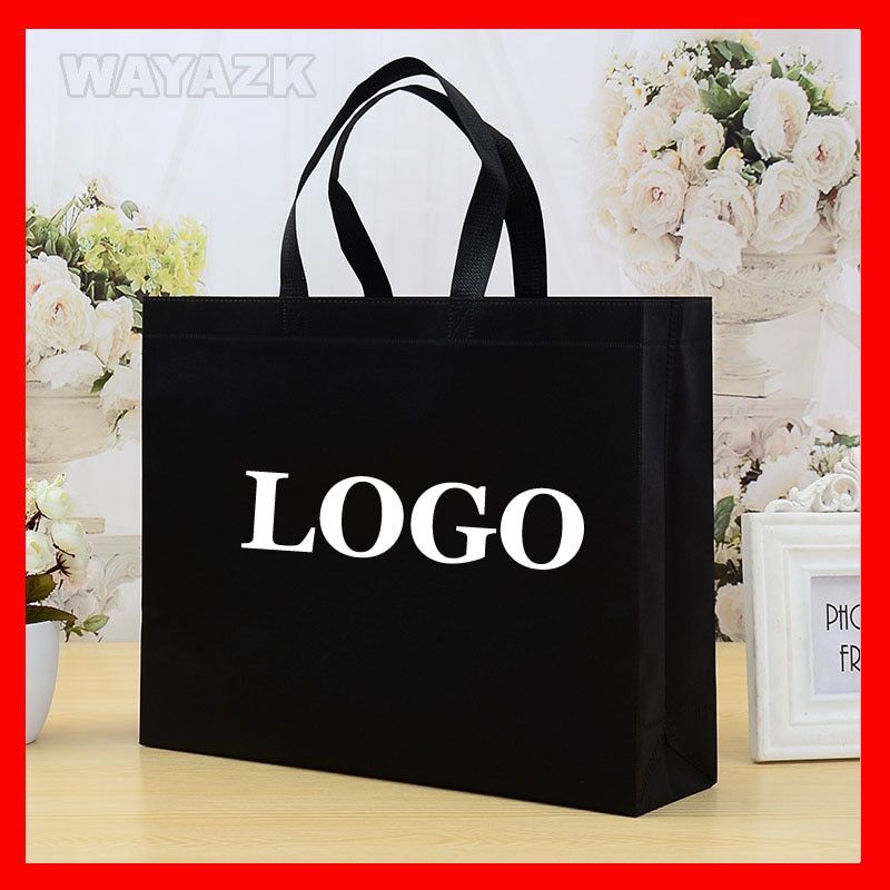 (100pcs/lot) personalized custom logo shopping bag with your own brand boutique promotion