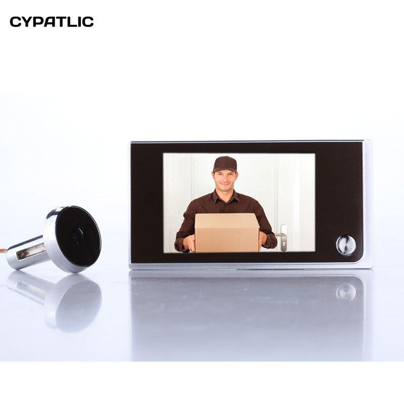 Простой цифровой дверной глазок «сделай сам», дверной глазок для камеры безопасности 2 Мп, TFT дисплей 3,5 дюйма