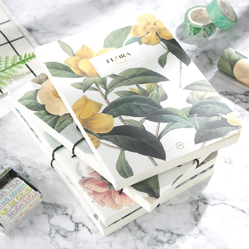 TUNACOCO Retro Floral Flower Schedule Notebook Diary Weekly Planner Blank Notebooks School Office Supplies Stationery bz1710035 new products on the shelves lovely flowers schedule diary weekly plan notebook school office supplies lovely stationery