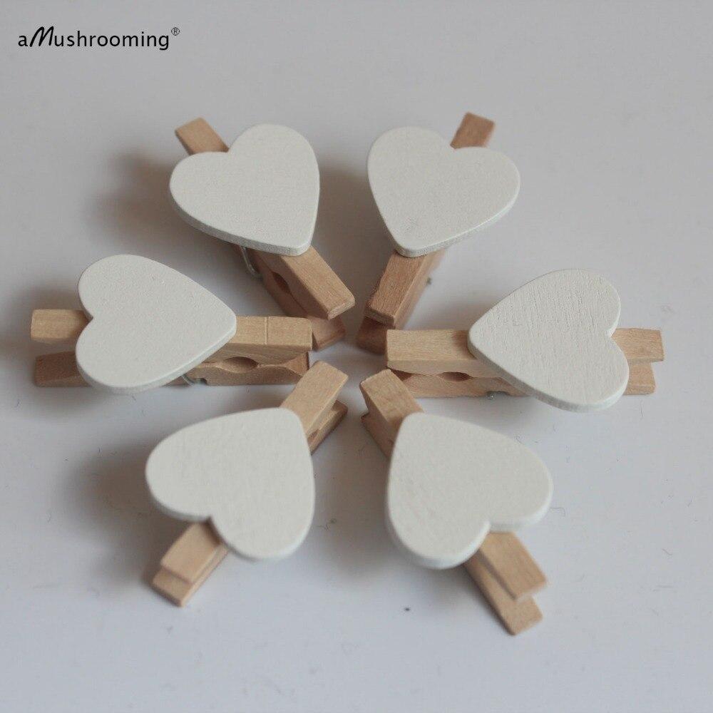Mini varal de madeira para artesanato, bolsa para lembrancinha de casamento 10-branco