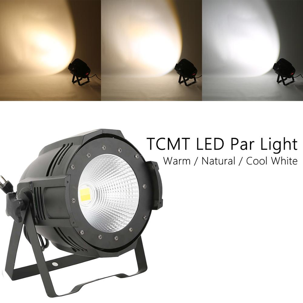 stage light 200w led electronic zoom par lights 4 dmx512 channels cool white or warm white led lamp dmx led strip light box 200W LED Stage Par Light COB Cool & Warm White 2 in1 PAR64 DMX DJ Lighting