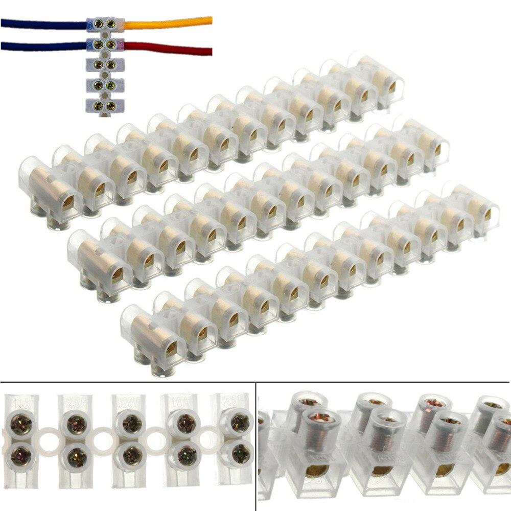 3 uds seguro blanco 12 Posición conector de bloque de terminales de conexión terminal de cable barrera de 3A 6A 10Amp