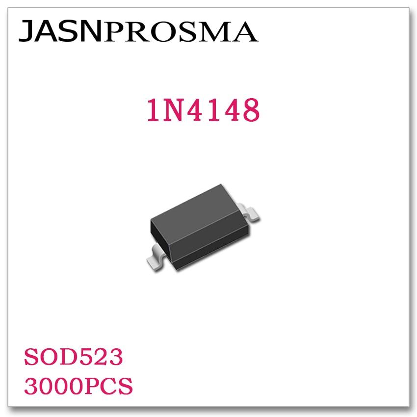 JASNPROSMA SOD523 1N4148 3000 Uds alta calidad Nuevos artículos diodos SMD T4 0603/1608