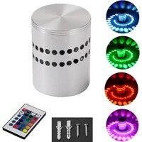 Applique murale LED avec telecommande  luminaire decoratif dinterieur  avec trou en spirale  rvb