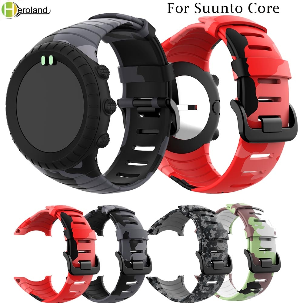 hot sale For Suunto Core Bracelet outdoors Sports Silicone watch strap watchBands Replacement Wristband Smart watch Accessories sport silicone watch band for suunto core smart watch replacement brand new high quality wristband watch belt smart accessories