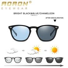 AORON-lunettes de soleil polarisées photochromiques, pour hommes/femmes, montures classiques rondes, monture TR, jambes en aluminium et magnésium