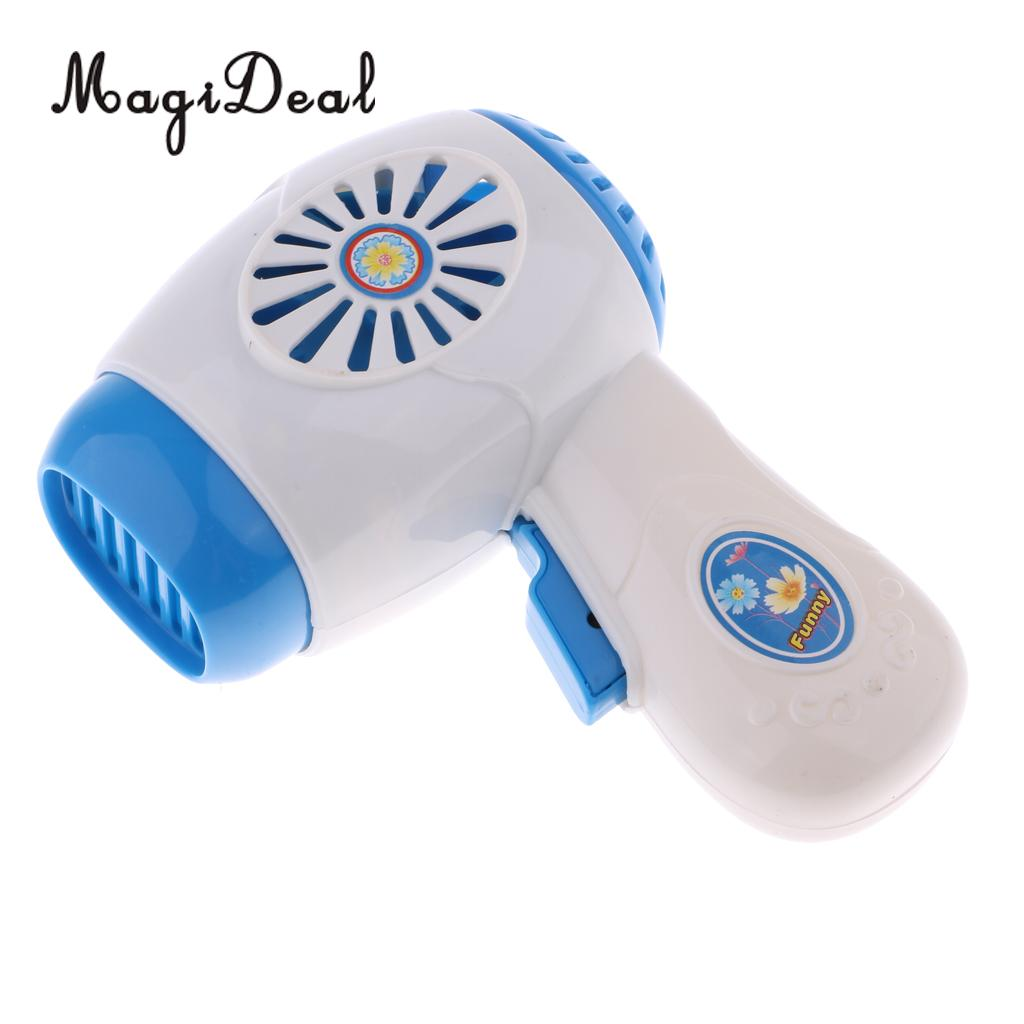 1Pc Simulation Pretend Toy Mini Home Appliances Model Toys for Kids Baby Role Play Toys Blue Hairdryer Hair Dryer