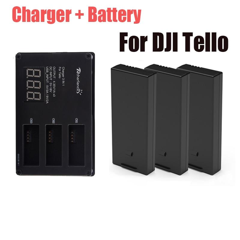 Оригинальный аккумулятор DJI Tello + Дрон Tello зарядное устройство для зарядки dji hub Tello аксессуары для летных аккумуляторов
