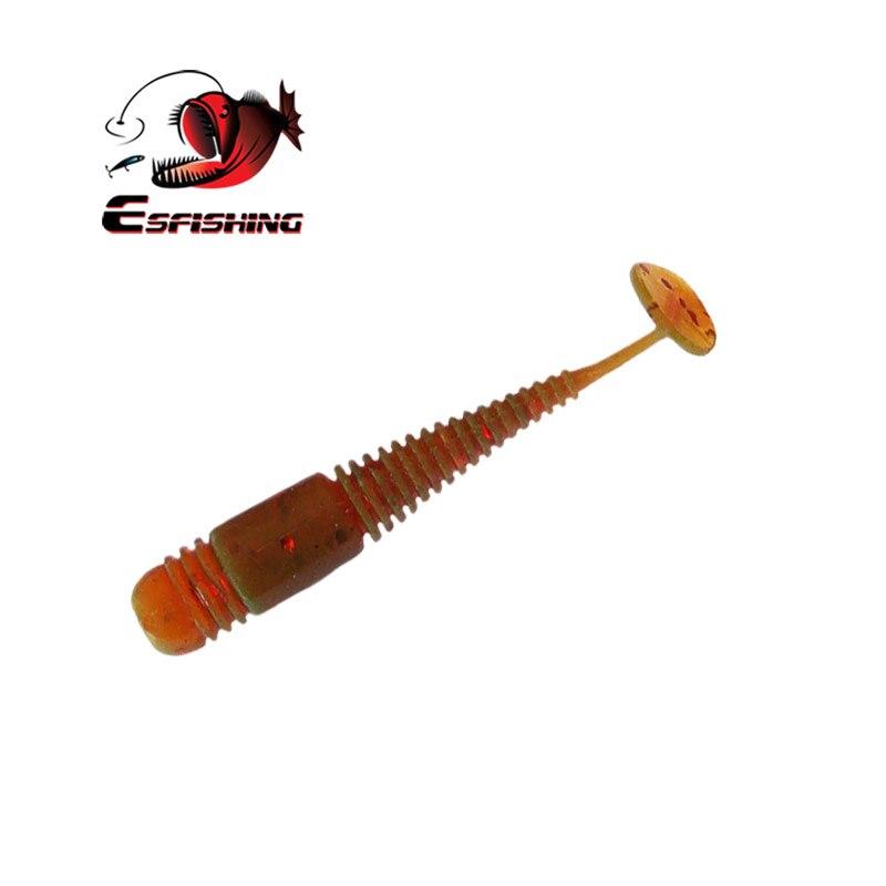 KESFISHING señuelo suave gusano Vibro gusano 20 piezas 48mm señuelo de Pesca de silicona cebo de Pesca mar aparejos Wobblers Pesca