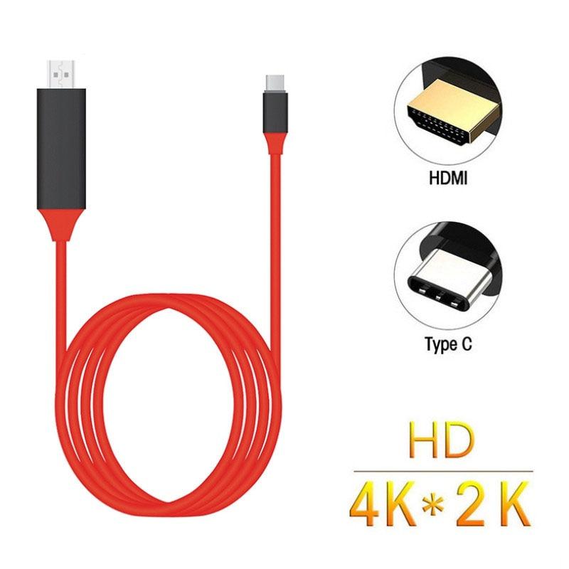 Cable USB 3,1 tipo C a HDMI 4K Adaptador convertidor de alta velocidad USB-C Cables para MacBook Pixel ChromeBook para Samsung S8