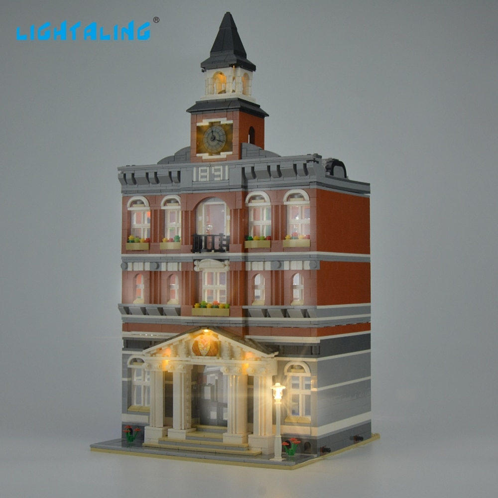 Купить с кэшбэком Lightaling LED Light Kit For 10224 Creator Town Hall Compatible With 15003 , (NOT Include The Model)