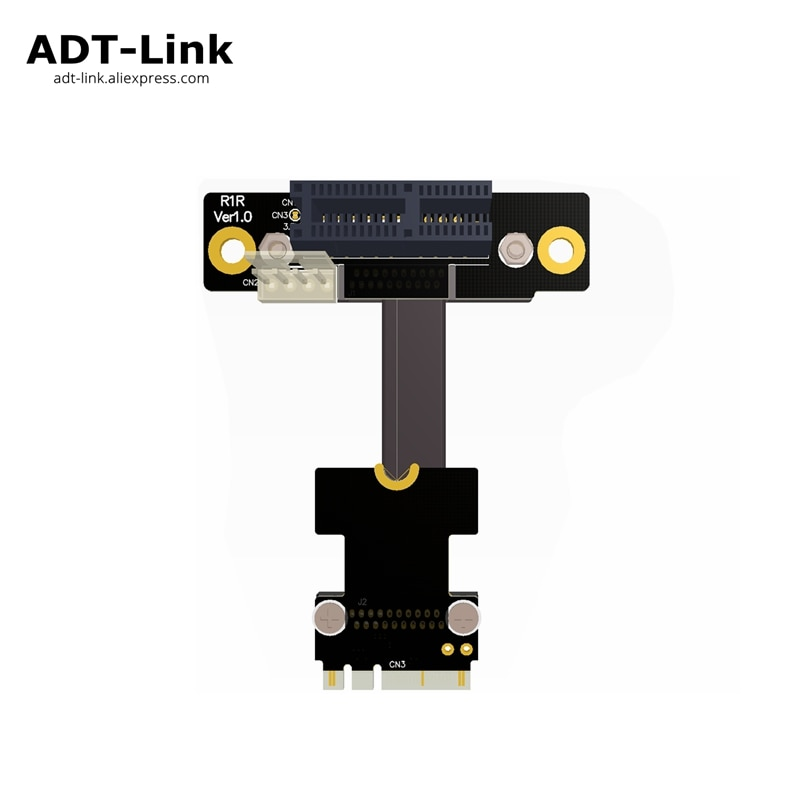 Codo Riser PCI-E x1 A M.2 WiFi clave A.E + E tarjeta de adaptador Riser extensor Gen3.0 Cable M2 AE pcie 1x para PCI-e 1x 2x 4x 8x 16x